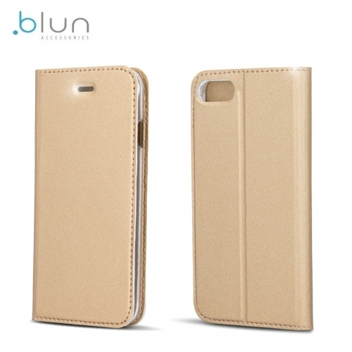 Blun Premium Matt Eco-leather Smart Magnetic Fix Book case with stand Samsung J530F Galaxy J5 (2017) Gold