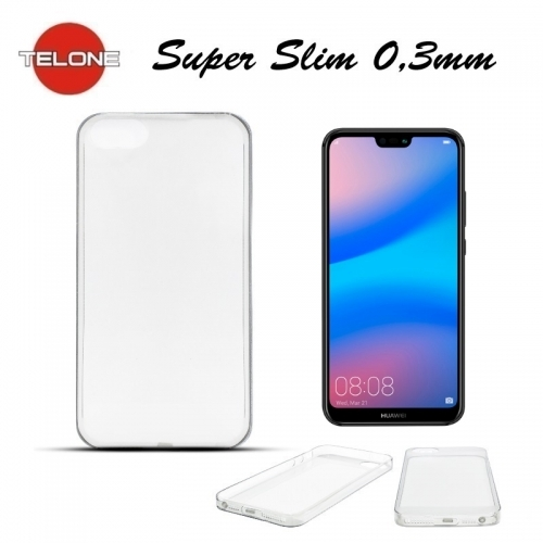 Telone Ultra Slim 0.3mm Back Case Huawei P20 Lite super plÄ?ns telefona apvalks CaurspÄ«dÄ«gs