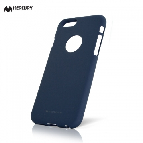 "Mercury Soft feeling Super PlÄ?ns TPU MatÄ""tas virsmas aizmugures maks-apvalks priekÅ? Apple iPhone XR 6.1inch TumÅ?i zils"