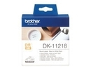 Brother DK11218 roundly labels white
