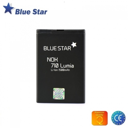 Bluestar Akumulators Nokia Lumia 610 710 Asha 303 603 Li-Ion 1500 mAh Analogs BP-3L