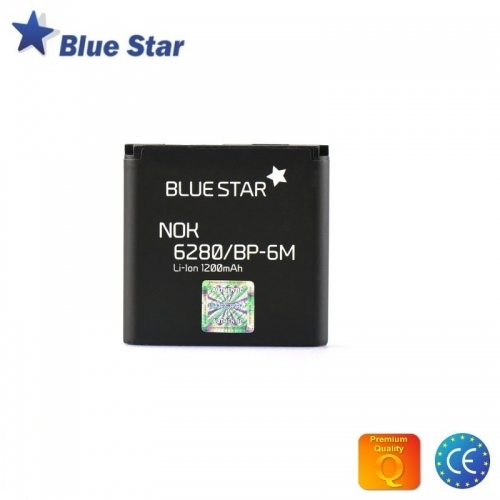 Bluestar Akumulators Nokia 9300 3250 6280 N73 N93 Li-Ion 1200 mAh Analogs BP-6M