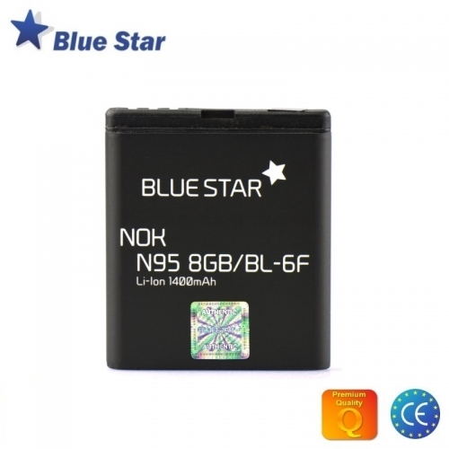 Bluestar Akumulators Nokia N95 8GB N78 N79 Li-Ion 1400 mAh Analogs BL-6F