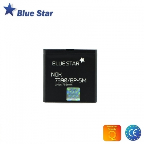 Bluestar Akumulators Nokia 7390/6110 Navigator/8600 Luna/6500 Slide/5610 Li-Ion 750 mAh Analogs BP-5M