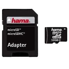 Micro SD 32GB+ Adapter Hama atmiņu karte