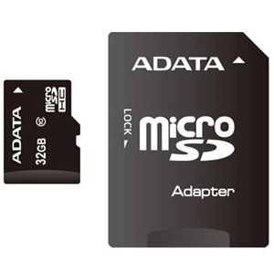 Micro SD 32GB Class 10+ Adapter ADATA atmiņu karte