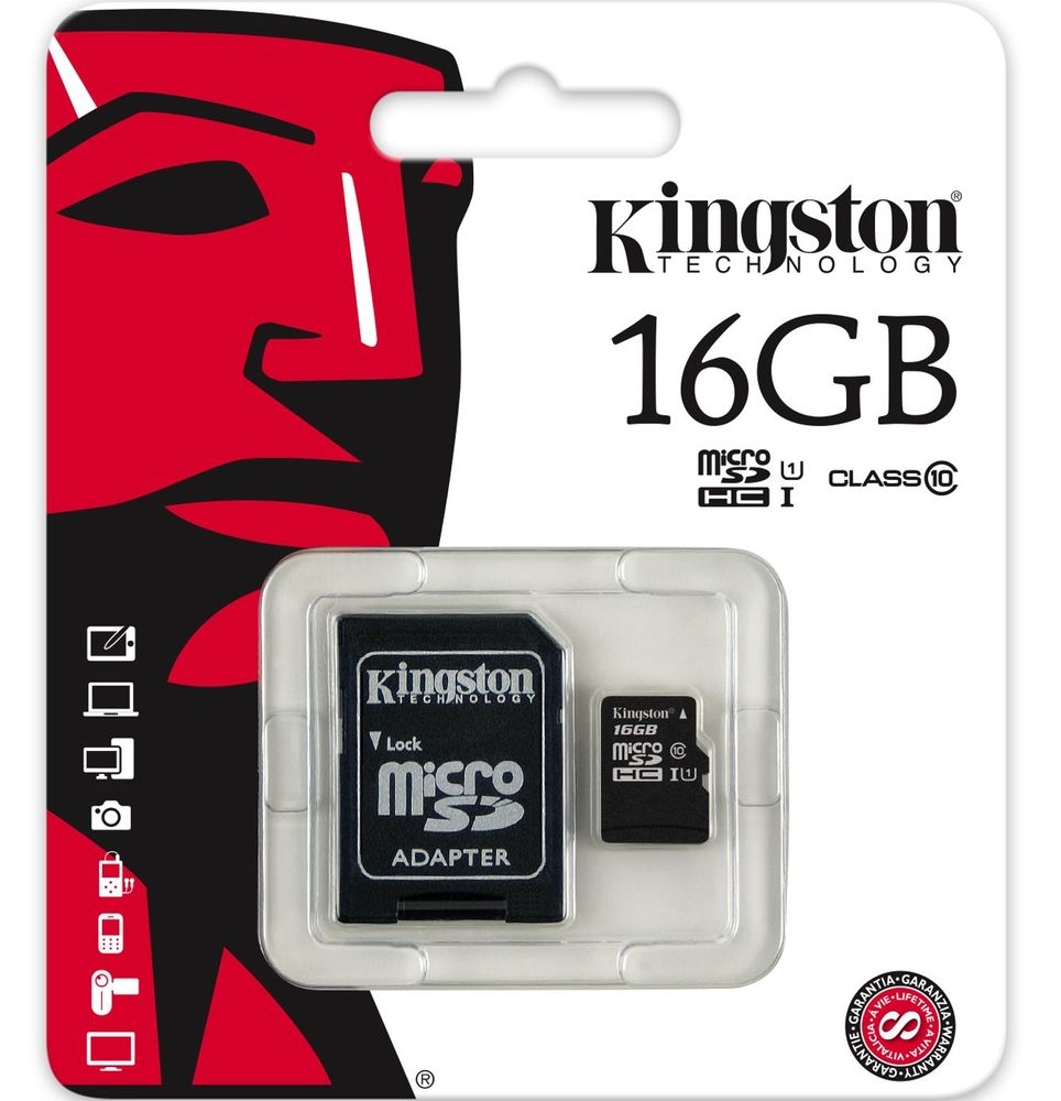 Micro SD 16GB Class 10+ Adapter Kingston atmiņu karte