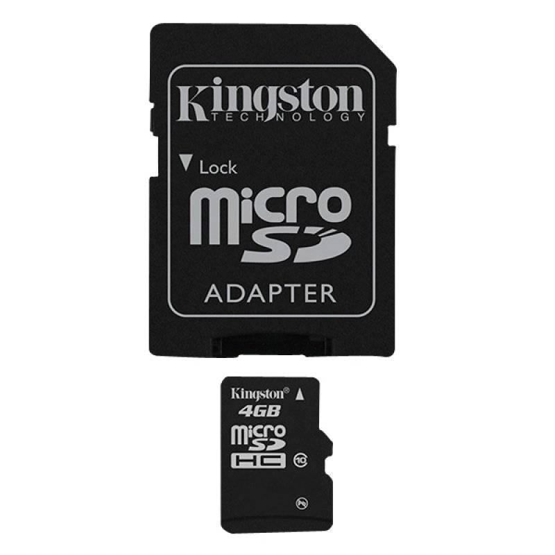 Micro SD 4GB Class 10+ Adapter Kingston atmiņu karte