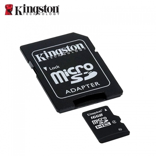 Kingston 16GB Micro SDHC Card class4 Atmiņas Karte ar SD Adapteri SDC4/16GB